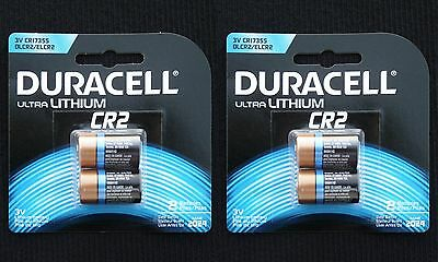 Duracell Type CR2 Lithium Batteries, 4-Cnt (Exp. 2024!)