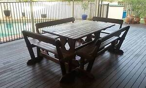 Solid timber outdoor setting Wishart Brisbane South East Preview