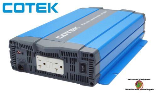 Cotek SP1500-124 1500 Watt 24 Volt Pure Sine Wave Inverter UL Certified