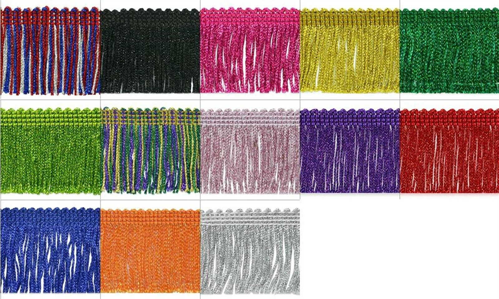 5 Yards of Sharlene 2 Loop Chainette Fringe Trim