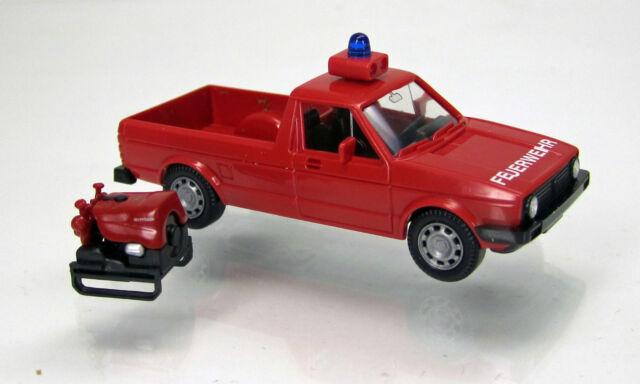 Wiking 060123 Volkwagen VW Caddy I Feuerwehr mit Tragkraftspritze