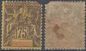 FRANCIA-COLONIA-MARTINICA-N-42-NUEVO-CON-GOMA-ORIGINAL-CARA