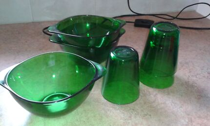 Vintage French bowl and glass set Leongatha South Gippsland Preview