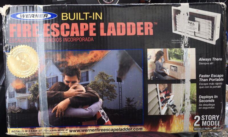 Werner Built-in Fire Escape Ladder 2 Story Model ES 220