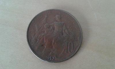 gebraucht 1 Münzen 10 Cent Republik Französisch 1910 Artikel For Colecctors (1 Cent Artikel)