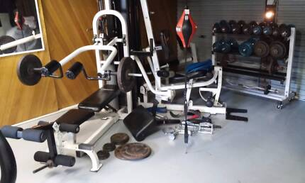 Avanti 3 way home Gym and free weight rack Engadine Sutherland Area Preview