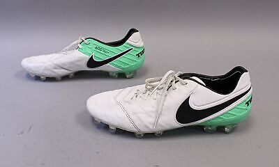 Nike Mens Tiempo Legend VI FG Cleat MC7 White/Black/Electro Green 819177 Size -