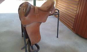 "Syd Hill Leather Swinging Fender Stock Saddle 16"" Adjustable gull Bindoon Chittering Area Preview"