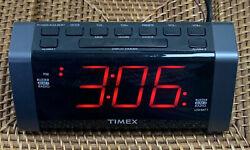 Timex T235Y Digital Tuner Dual Alarm Clock Radio Jumbo Display & MP3 Line-In