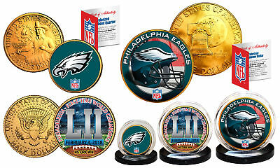 Super Bowl LII 52 NFL Champions PHILADELPHIA EAGLES 3-Coin Set * Philly Themed * (Nfl Theme)