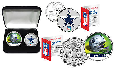 DALLAS COWBOYS Officially Licensed NFL 2-COIN U.S. SET w/ Deluxe Display Box ()