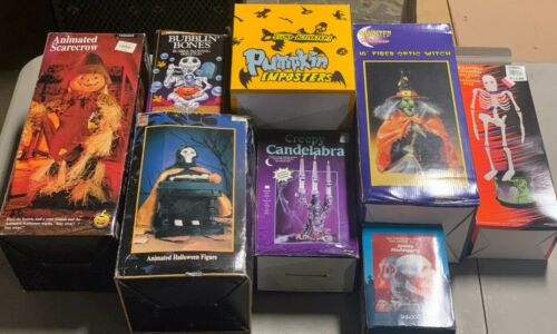 Lot of 8 VINTAGE Halloween Animated and Other