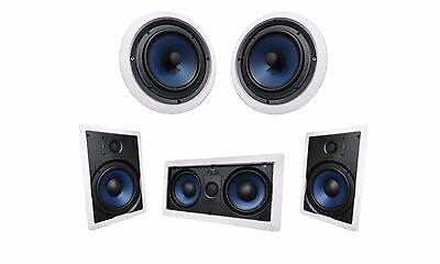 Silver Ticket Surround Sound Speaker In Wall Ceiling 1x 5252W, 2x 652W,  2x 652C