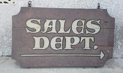 Awesome 1930s 1940s Wooden Automotive Sales Sign.....