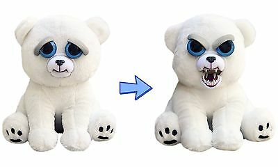 "Feisty Pets by William Mark Karl the Snarl  8.5"" Plush Stuffed Polar Bear"