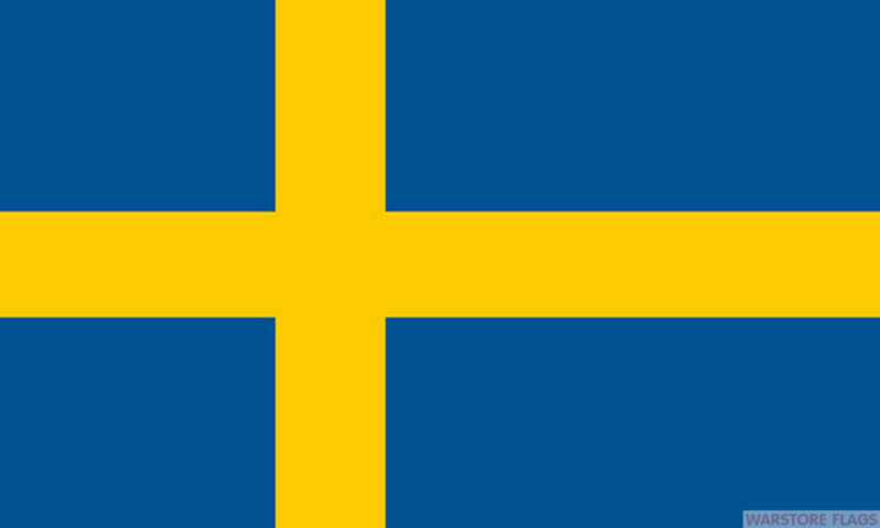 "SWEDEN BUDGET FLAG small 9""x6"" GREAT FOR CRAFTS SWEDEISH SVERIGE"