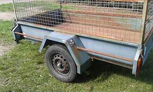 HEAVY DUTY 7X4   CAGED  TRAILER CHECKERPLATE FLOOR Rowville Knox Area Preview
