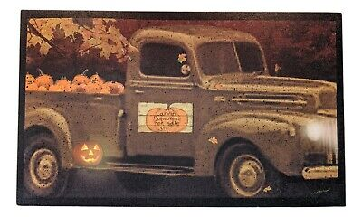 "VINTAGE TRUCK WITH PUMPKINS Lighted Canvas,20"" x 12"", by Ohio Wholesale"