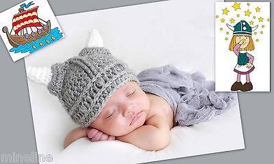 ★★★NEU Baby Fotoshooting Kostüm Kleiner Wikinger 6-24 Monate (Baby Wikinger Kostüm)