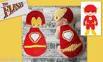 ★★★ NEU Baby Fotoshooting Kostüm The Flash Blitz - Baby Flash Kostüm
