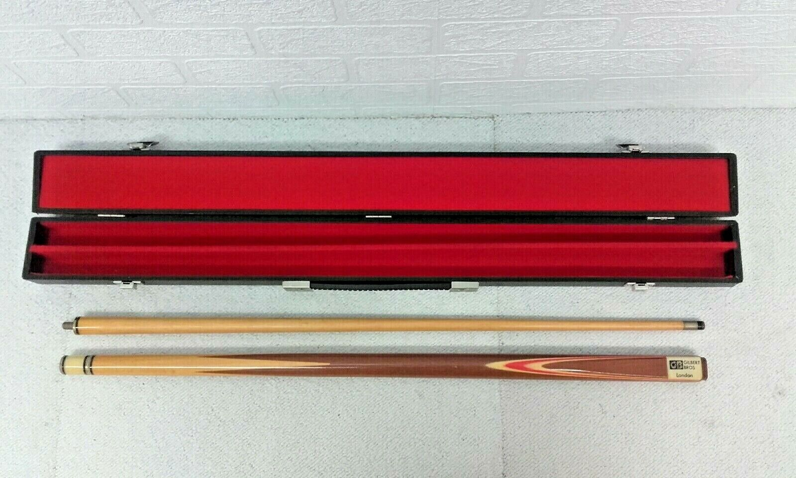 Snooker Cue Gilbert Bros London, 57 inch, 9mm tip, Carry Case