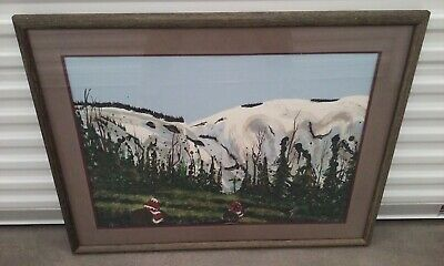 EARL BISS (1947-1998) NATIVE AMERICAN ART SERIGRAPH SILKSCREEN SQUAW VALLEY CA for sale  Chandler