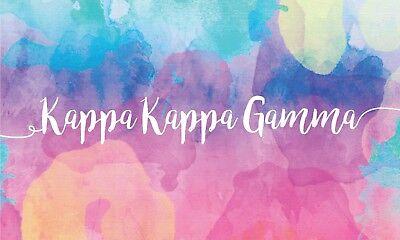 Kappa Kappa Gamma Sorority Water Color Script Name Sorority Flag 3' x 5' KKG