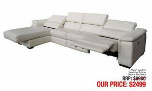 ASPEN LEATHER MODULAR SOFA W/ ELECTRIC RECLINERS Granville Parramatta Area Preview