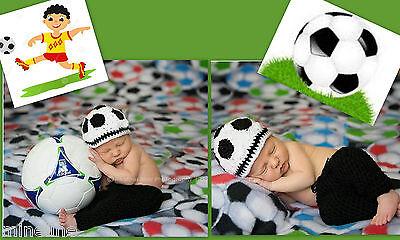 ★★★ NEU Baby Fotoshooting Kostüm Kleiner Fußballer Set 0-6 Monate ★★★Nr.H ()