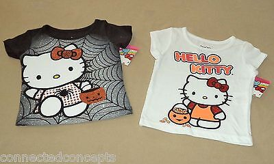 Pair of Halloween Hello Kitty Infant/Toddler Girls T-Shirt (SIZE 18 Month) - Month Of Halloween