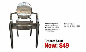 SMOKE GHOST DINING CHAIR Granville Parramatta Area Preview