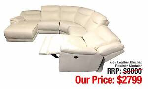 ALEV LEATHER ELECTRIC RECLINER MODULAR STUNNING DESIGN Ultimo Inner Sydney Preview