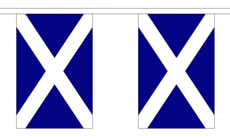 SCOTLAND FLAG BUNTING 9 metres 30 flags ST ANDREW SCOTS