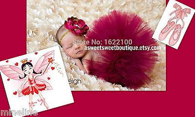 ★★★NEU Baby Fotoshooting Kostüm Tütü & Haarband Elfe Ballerina 0-6.Monate★★★Nr.S