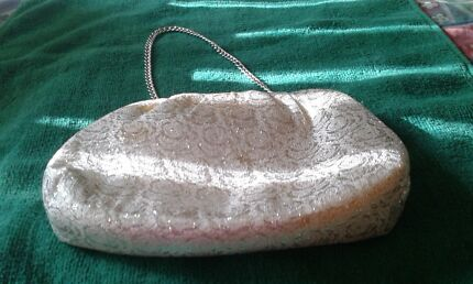 Ladies silver evening  bag Farrer Woden Valley Preview