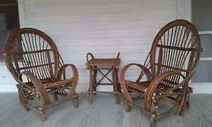 Willow Twig Chairs And Side Table  GREYHOUND SHIPPINGu003c REQUIRES PICK UP