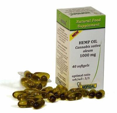Hemp Seed Canabis Sativa Oil Capsules Organic Pure Cold Pressed 1000mg