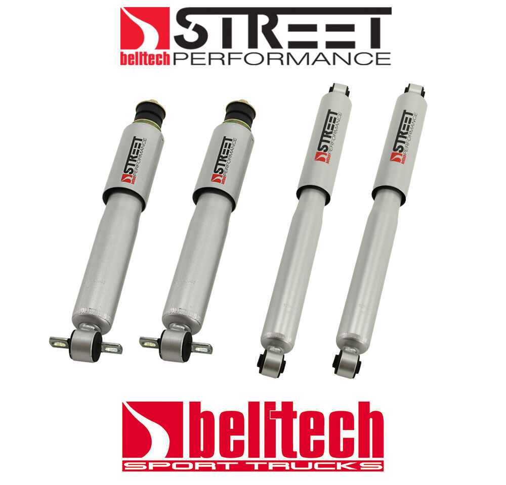 99-06 Silverado//Sierra Street Performance Front//Rear Shocks for 4//6 Drop 2wd