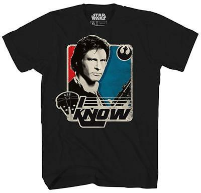 Han Solo Shirt (Star Wars I Know Han Solo Funny Humor Adult Mens Graphic Tee T-Shirt)