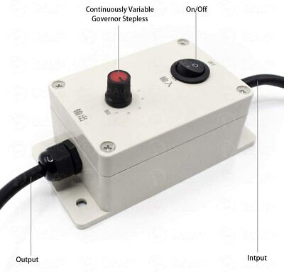 Usa 110v 220v Ac Vibration Motor Governor New Variable Speed Controller Switch