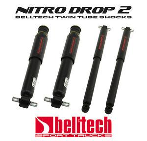88-98 C1500/Sierra/Silverado Nitro Drop 2 Front/Rear Shocks for 4/6 Drop