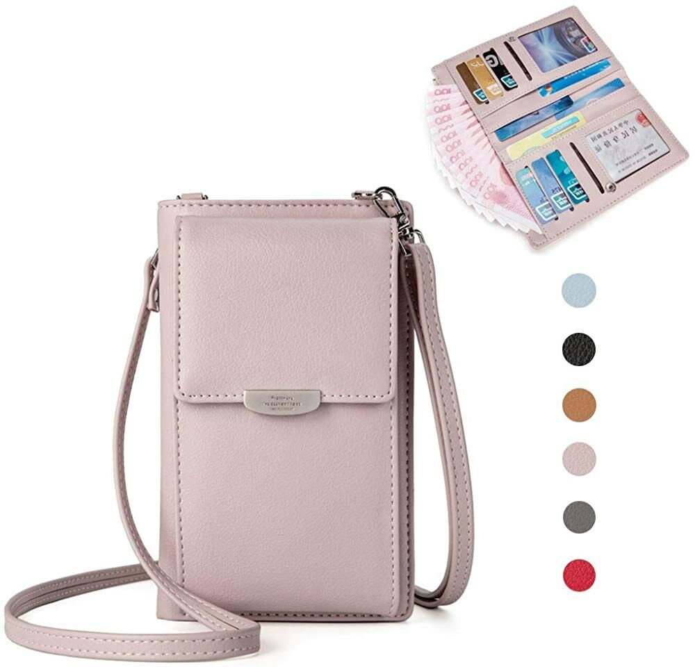 Women Small Leather Shoulder Crossbody Bag Phone Wallet Purse Handbag With Strap Clothing, Shoes & Accessories