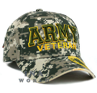 U.S. ARMY hat  ARMY VETERAN Military Official Licensed Baseball cap -ACU Camo