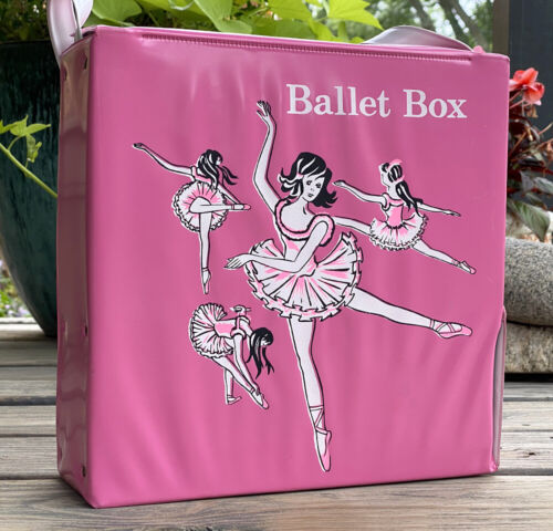 Vintage Girls Pink Ballet Box Ballerina Case for Shoe/Dance Clothes