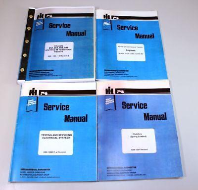 International Ih 70 86 Hydro Diesel Tractor Engine Service Repair Shop Manual