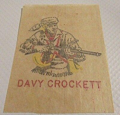Vintage 1950's Davy Crockett Tattoo](Cowboy Western Tattoos)