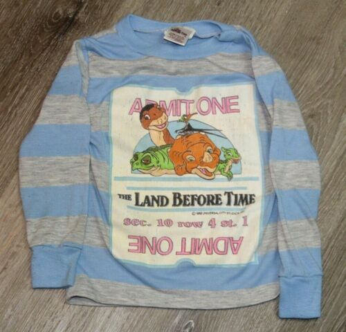 RARE Vintage 80s 1988 The Land Before Time Movie Promo Shirt Toddler Size 4T