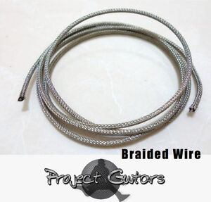 Vintage Style Guitar Wire w/ Braided Shielding  1 Metre Length FREE P&P UK