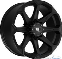 BRAND NEW FULL SET!! 20INCH BLACK TUFF ALL TERRIAN WHEELS! DODGE
