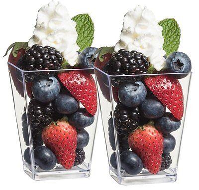364 Square 5oz Parfait Dessert Cups Shot Glasses Trifle Bowl Clear Plastic Cup - Minions Dessert